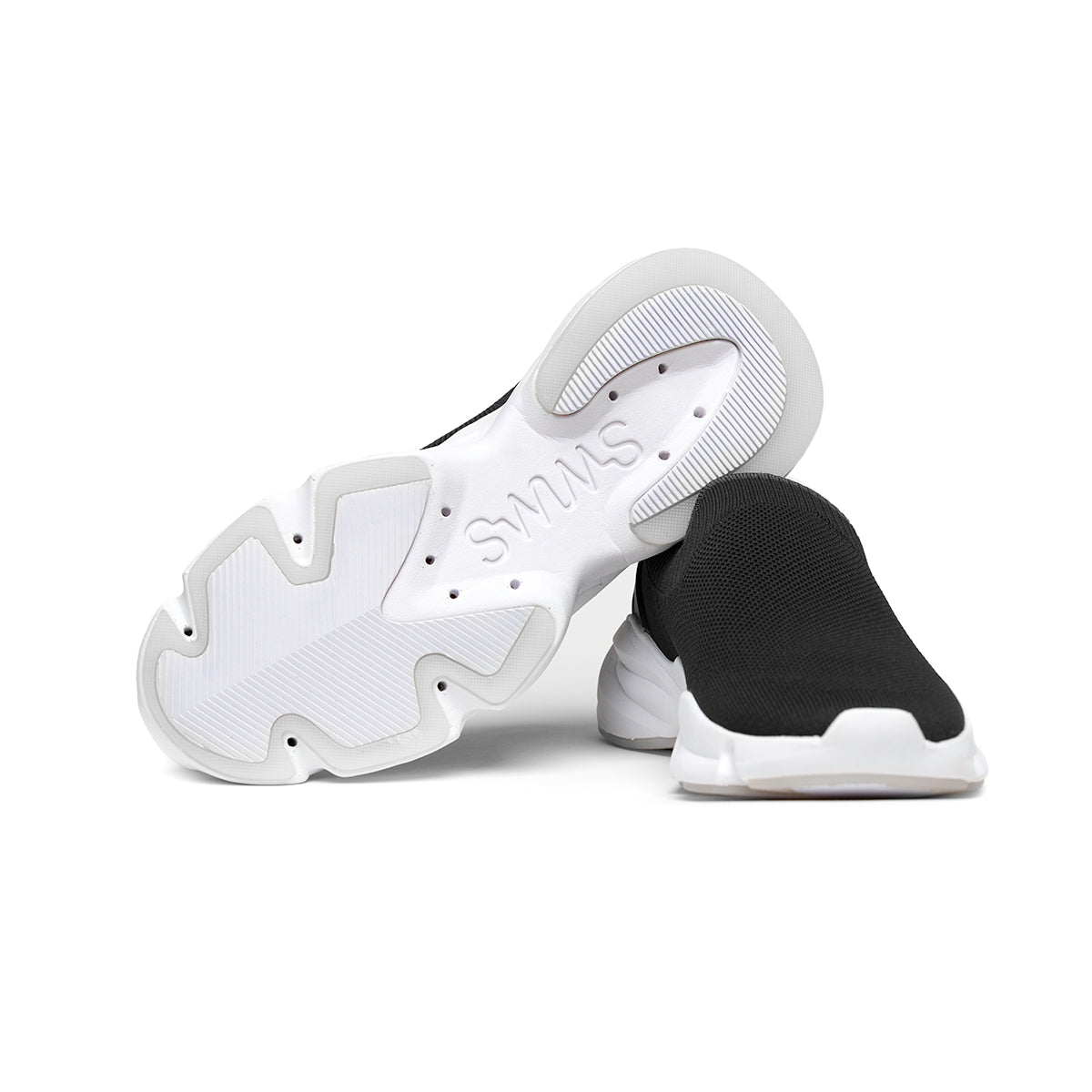 Slip-On Sock Runner - background::white,variant::black