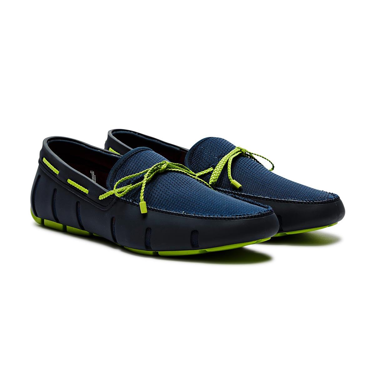 Braided Lace Loafer - background::white,variant::NAVY/GREEN