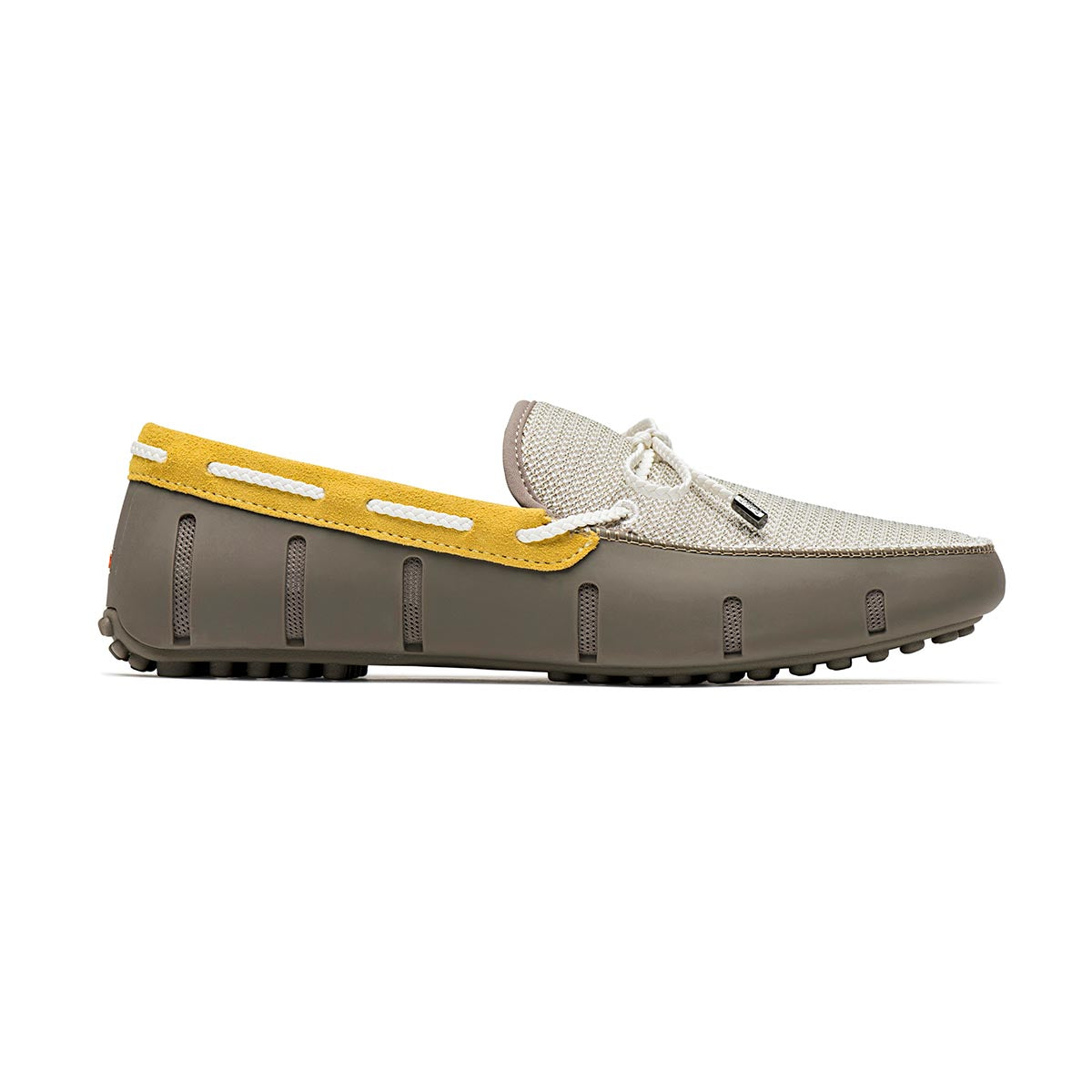 Braided Lace Lux Loafer Driver - background::white,variant::Khaki