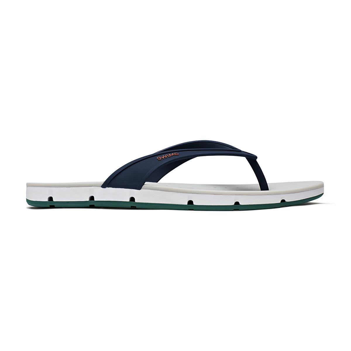 Breeze Thong Sandal - background::white,variant::NAVY/WHITE/COURT GREEN