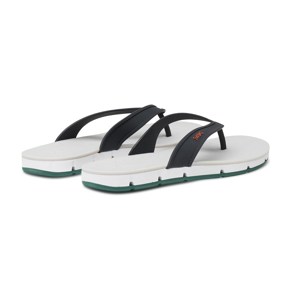 Breeze Thong Sandal - background::white,variant::NAVY/WHITE/COURTGREEN