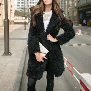 """Faux Fur"" Long Jacket"