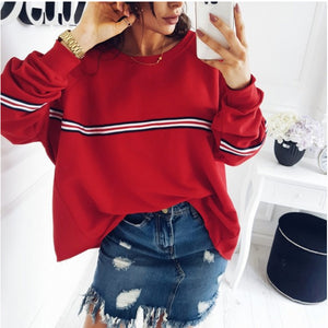"""Striped Sweater"" Oversized Top"