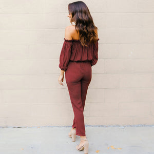 """Dotted Wine"" Jumpsuit"