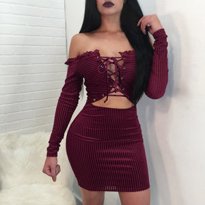 """Bandaged Up"" Bodycon Dress (2 colors)"