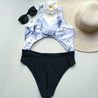 """Marble Slab"" One-Piece"