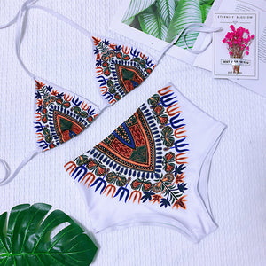 """Boho Simple"" Hi-Waist Bikini"