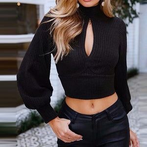 """By The Fire"" Crop Sweater"