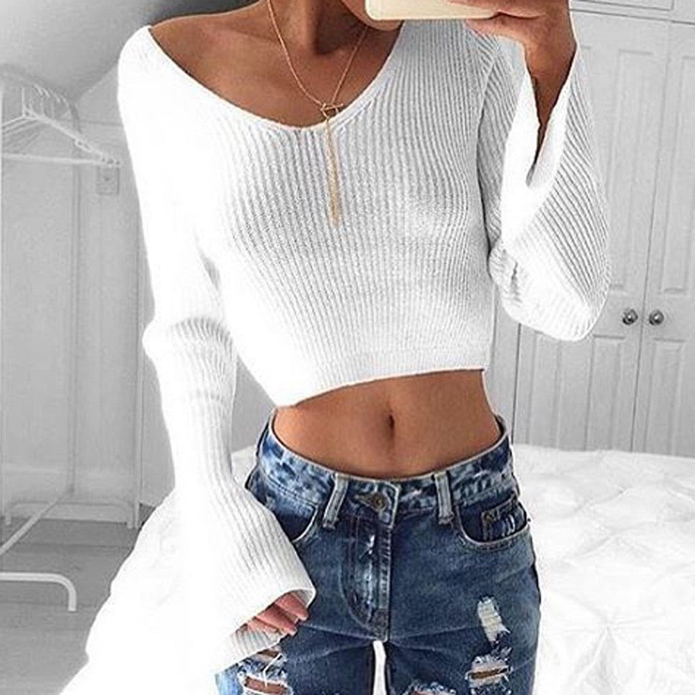 """Give 'Em Bell"" Crop Sweater"