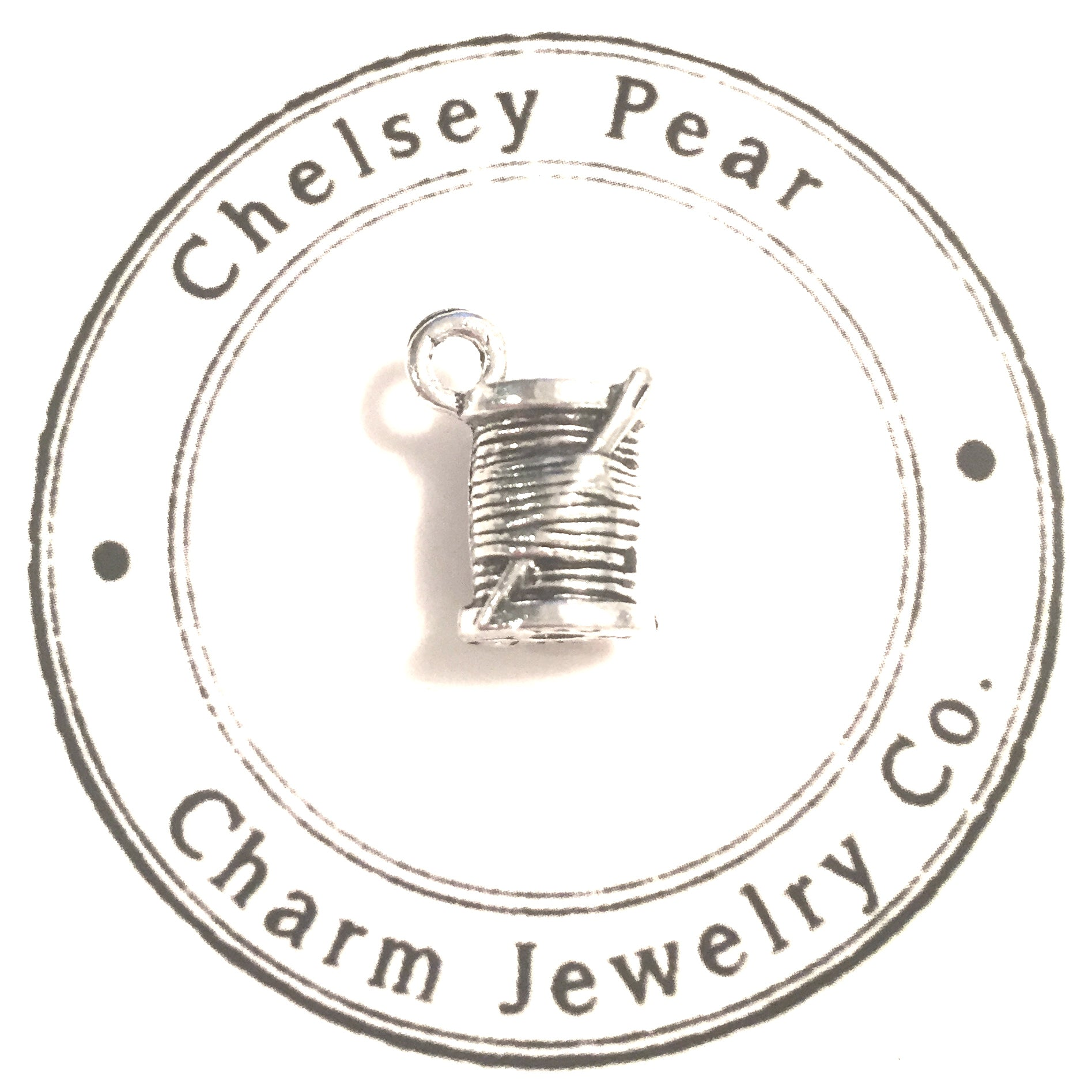 sewing needle and thread charm