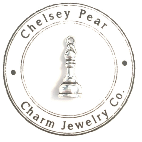 bishop chess piece charm