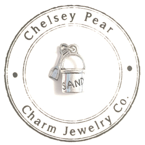 sand pail and shovel charm bucket and spade charm
