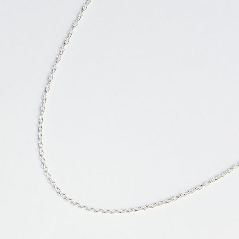 "18"" sterling silver chain necklace"