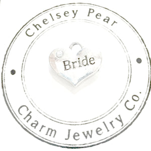 Bride Charm with Swarovski Crystal