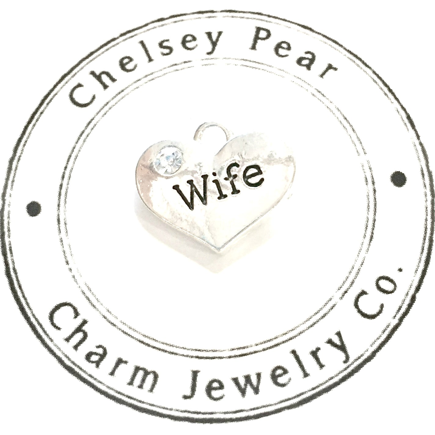 Wife Charm with Swarovski Crystal