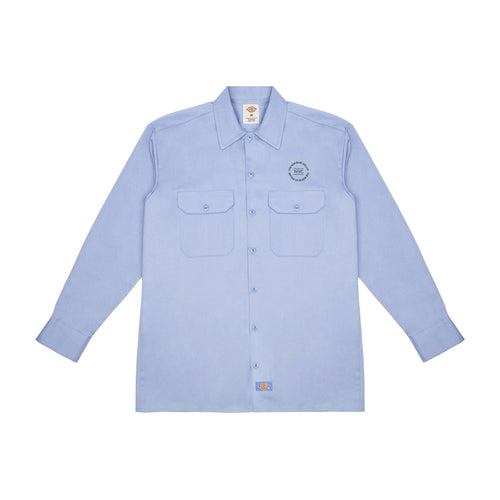 L/S WORK SHIRT—GULF BLUE