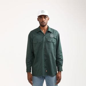 L/S WORK SHIRT—HUNTER GREEN