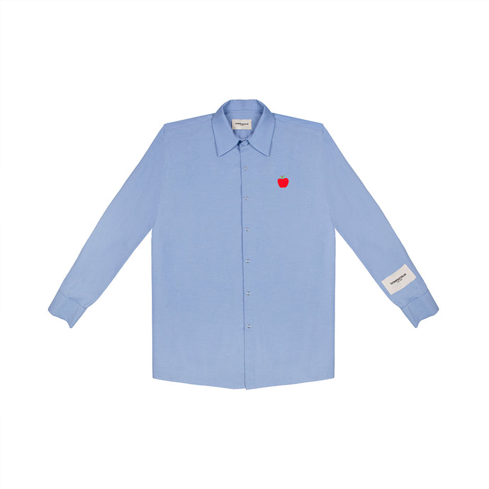 BUTTON UP—LIGHT BLUE