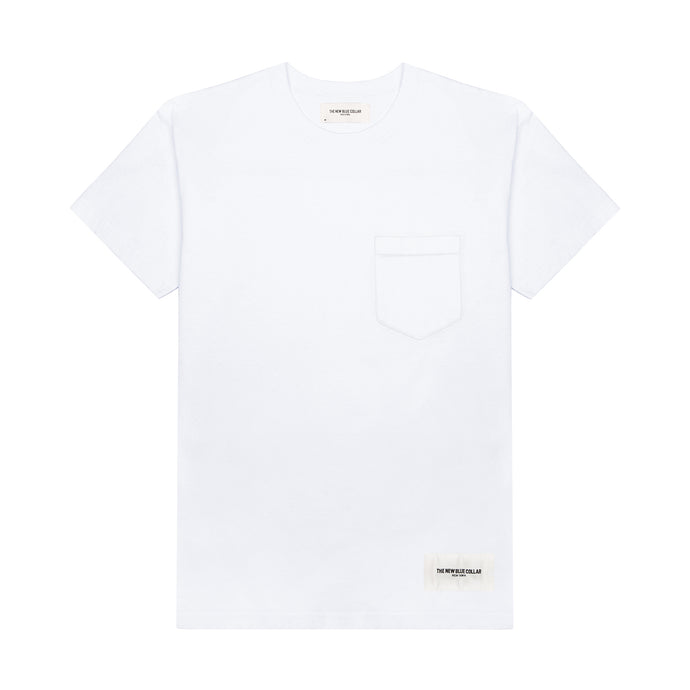 S/S POCKET T-SHIRT—WHITE