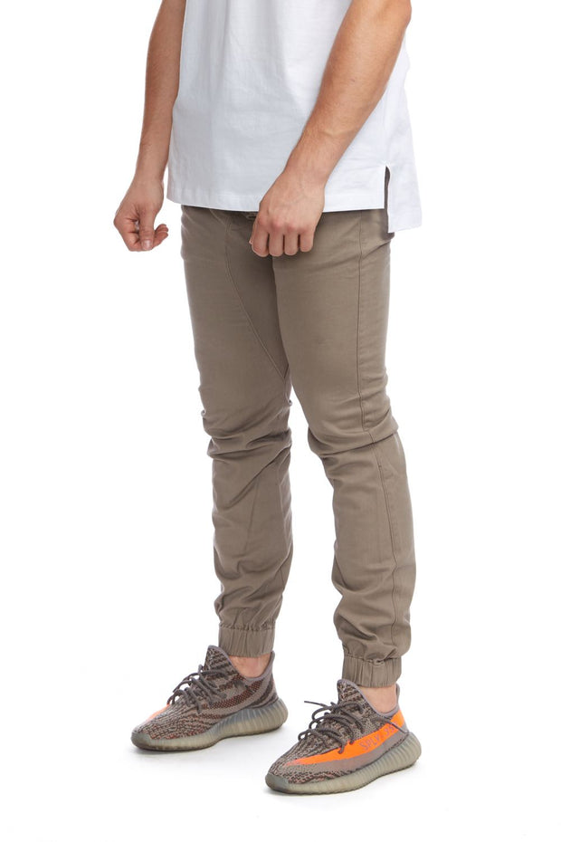 Chino Jogger Taupe