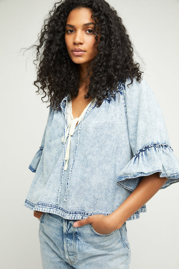 Ainsley Denim Top
