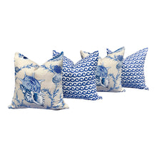Load image into Gallery viewer, Thibaut Seashels Linen Pillow in Porcelain.