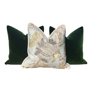 Velvet Pillow in Moss Green.