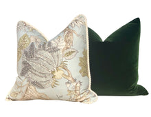 Load image into Gallery viewer, Velvet Pillow in Moss Green.