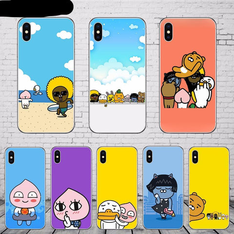 Korean Cartoon Funny Cocoa Friend Phone Case - HypePercents