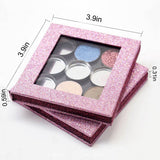DIY Empty Magnetic Eyeshadow Palette Bling Glitter Fashion Easy to carry Powder blusher lipstick lip gloss Fundation Makeup tool