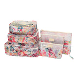 Travel Organzier Tropical Print 6Pcs/set Packing Cube T