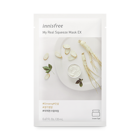 Innisfree My Real Squeeze Mask EX (Ginseng)