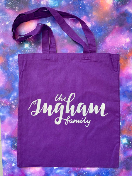 Ingham Family Tote Bag - Cosmic Purple