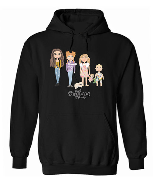 Ingham Family XL Sizes Animation Hoodie (XL to 3XL Size Only)