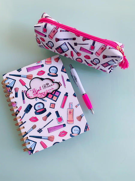 Notebook Bundle With Pencil Case and Pen