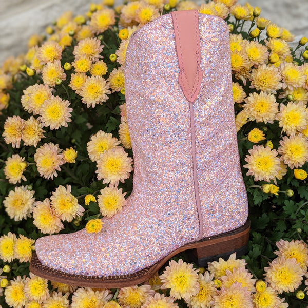 "**Children's** ""Rose"" Light Pink Mermaid Shimmer Boots"