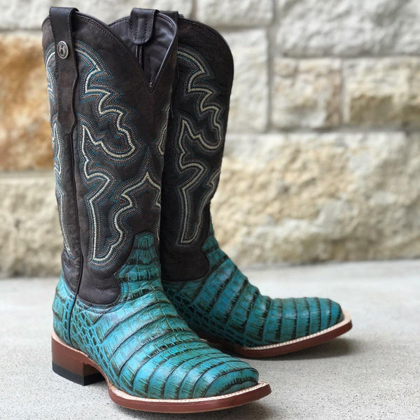 Women's Turquoise Caiman Print