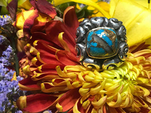 Dian Malouf Turquoise Abalone Ring