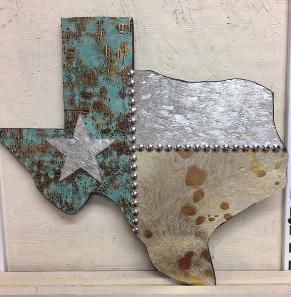 Custom Cowhide Texas 14""