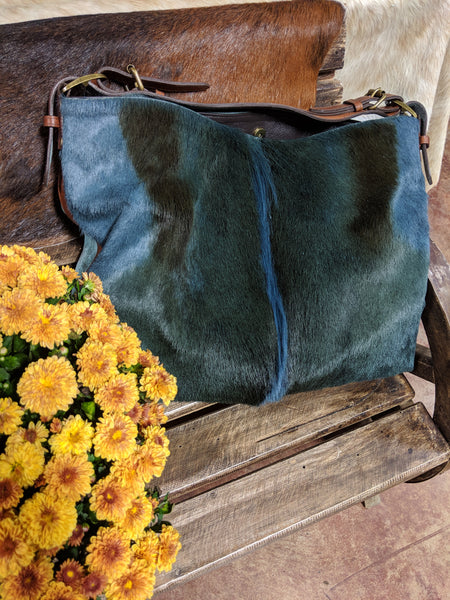 Juan Antonio Navy Antelope Slouch Bag (4-6 week production time)