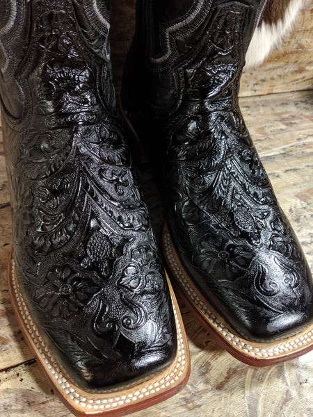 Tanner Mark Women's Black Tooled