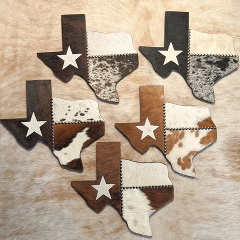 Cowhide Texas Wall Decor