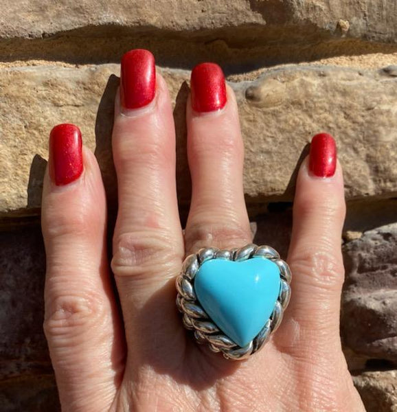 Dian Malouf #1Turquoise Heart Ring