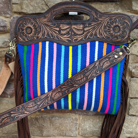 Singing the Blues Woven Handbag