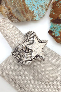 Dian Malouf Silver Star Ring