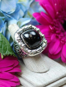 Dian Malouf Black Jade Pillow Ring