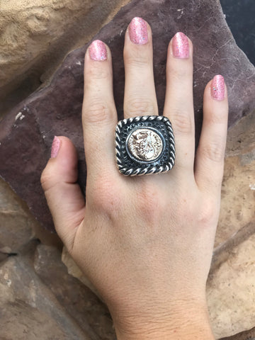 Dian Malouf Coin Ring