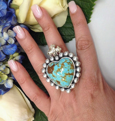 Dian Malouf Sacred Heart Ring
