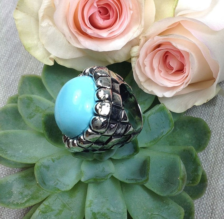 Dian Malouf Checkered Chic Ring