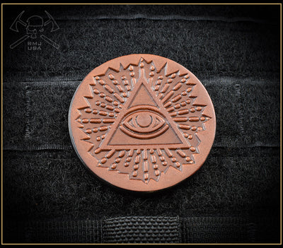 All Seeing Eye Leather Patch
